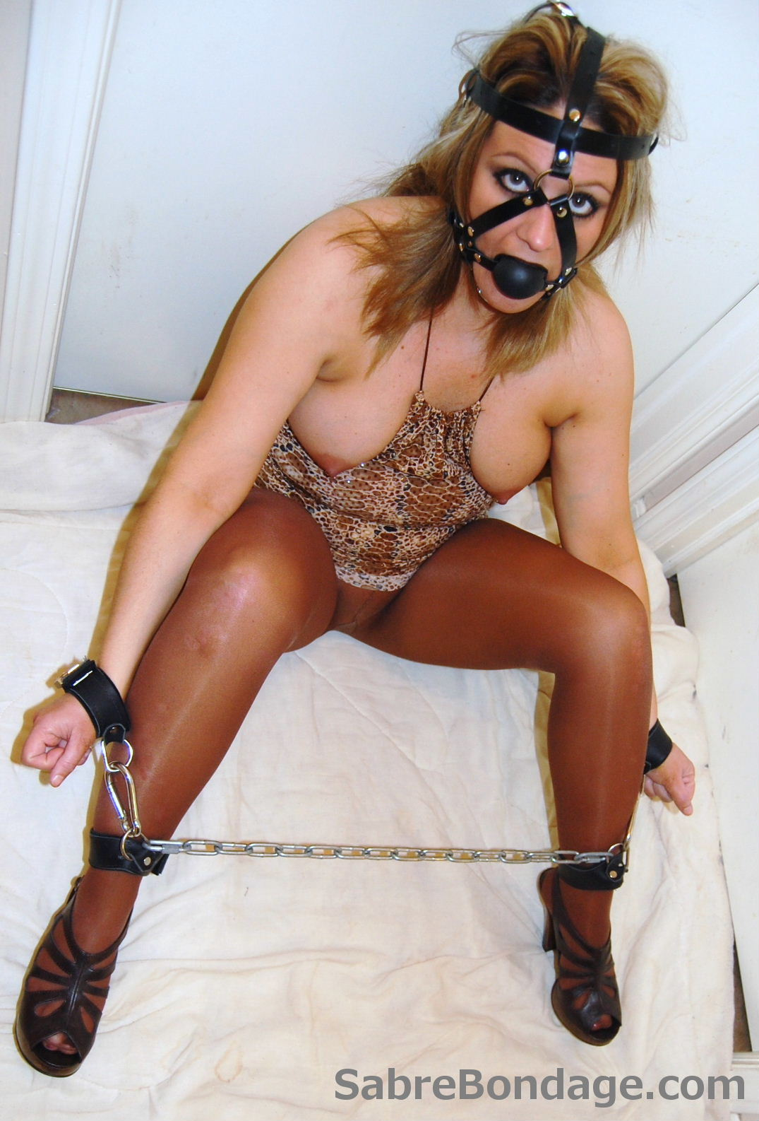 Shackled and Harness Gagged 2