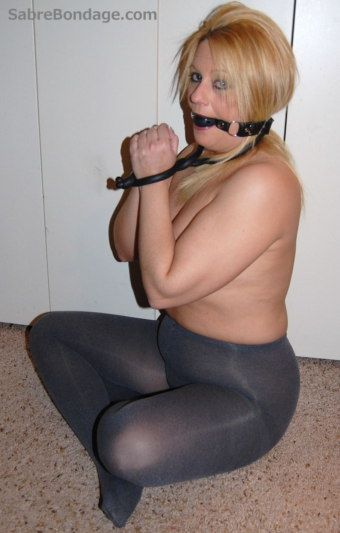 Drooling in Ballgag and Hose 1