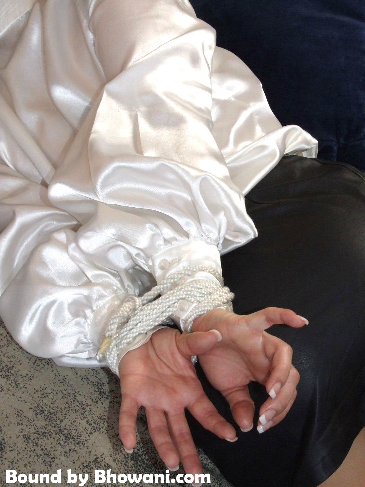 Hogtied in Satin and Leather 1