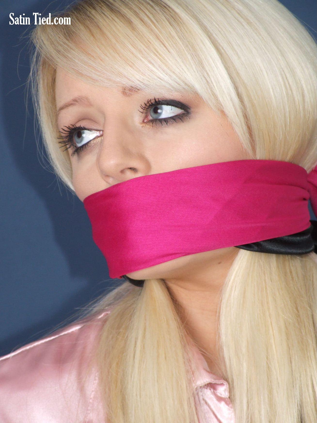 Satin Tied: Hannah in Pink Satin 2