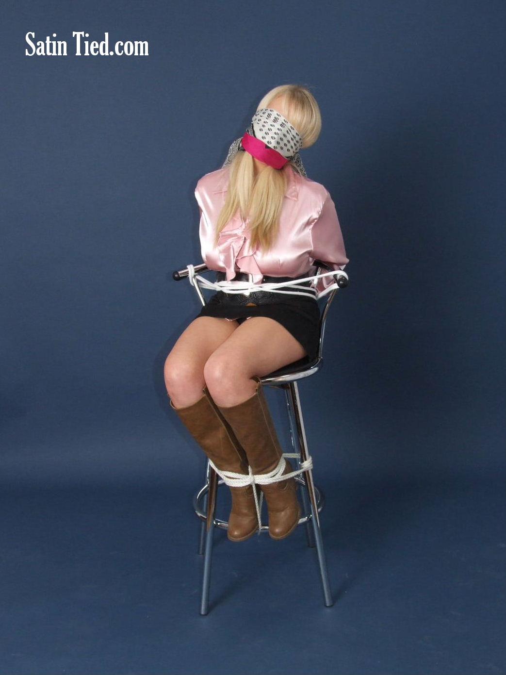 Hannah in Pink Satin 3