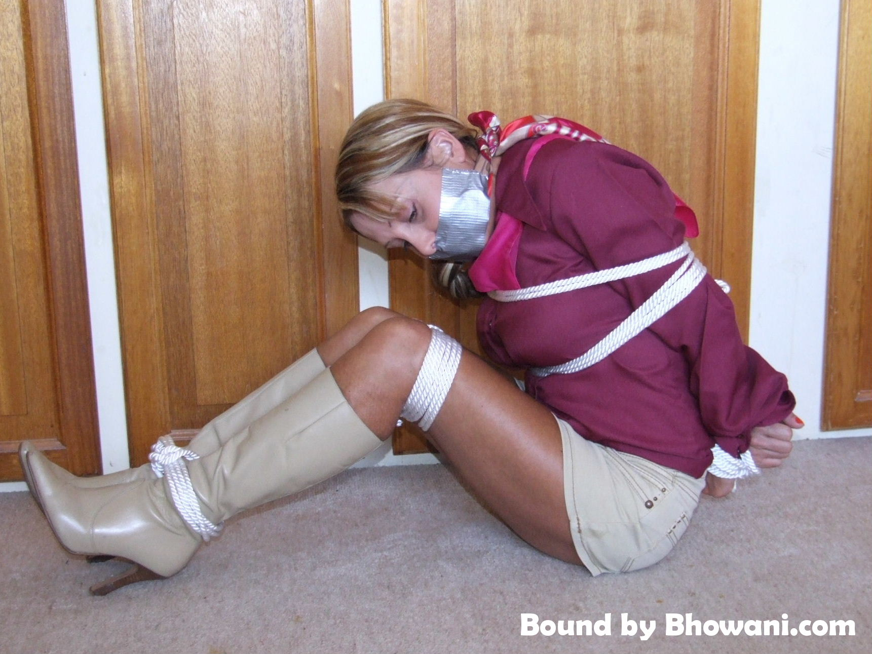 Bound and Taped in Boots 3