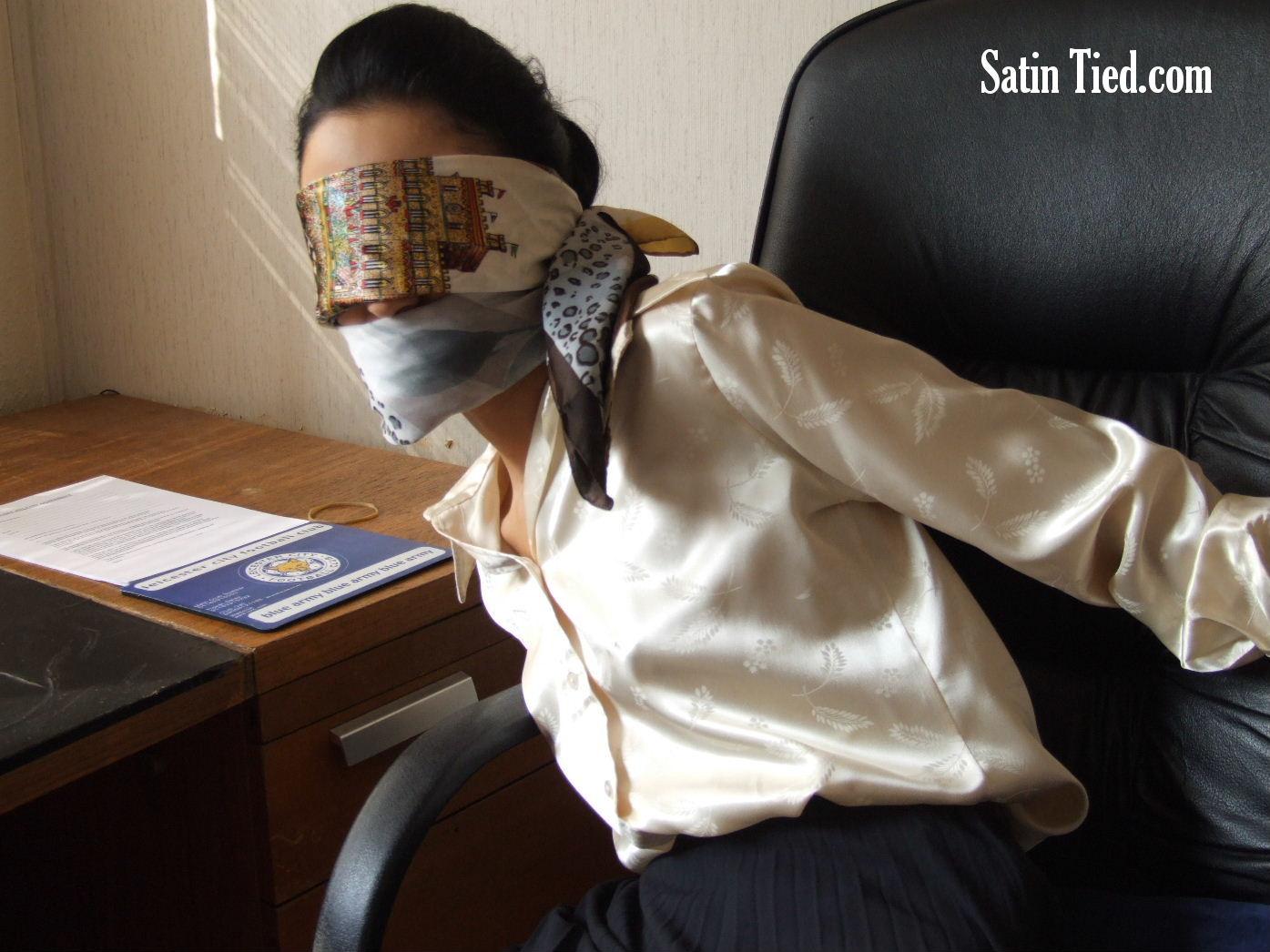 Satin Tied: Office Satin Captive