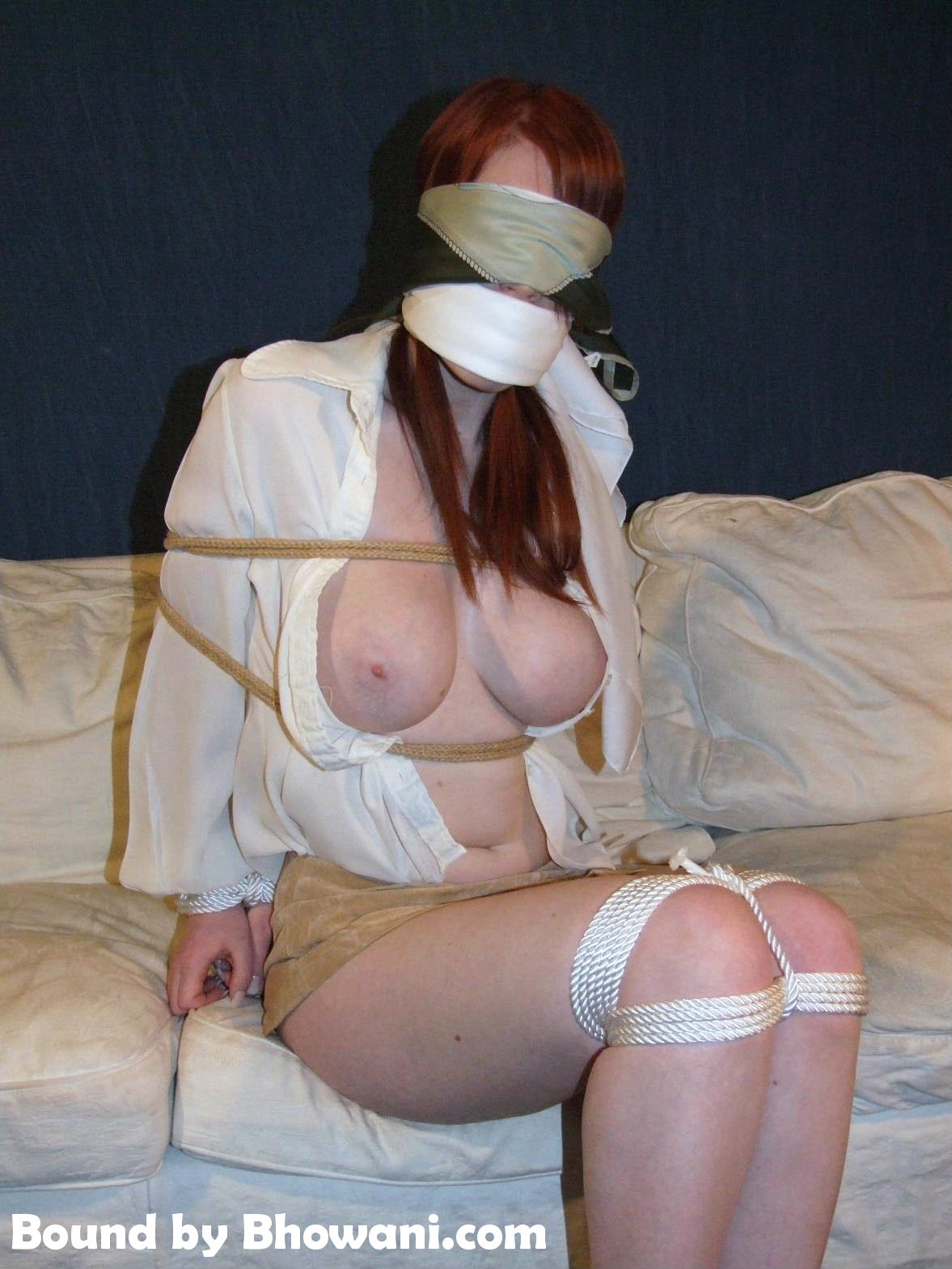 Tied in Blouse and Scarf 4