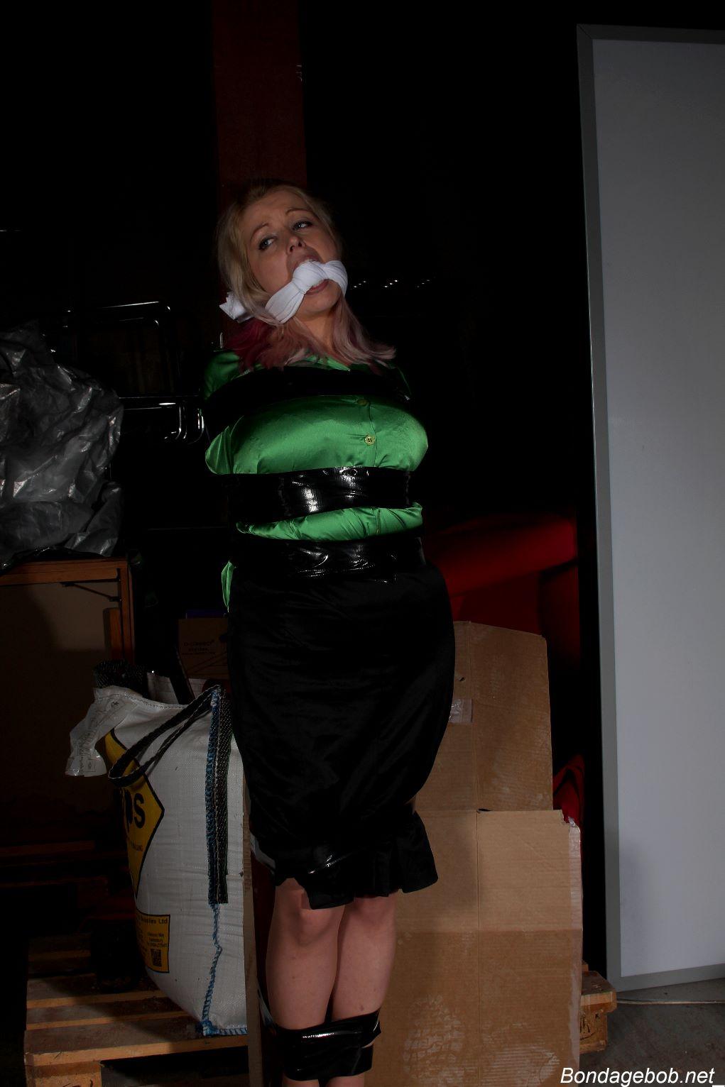 Temptress Kate in bondage.
