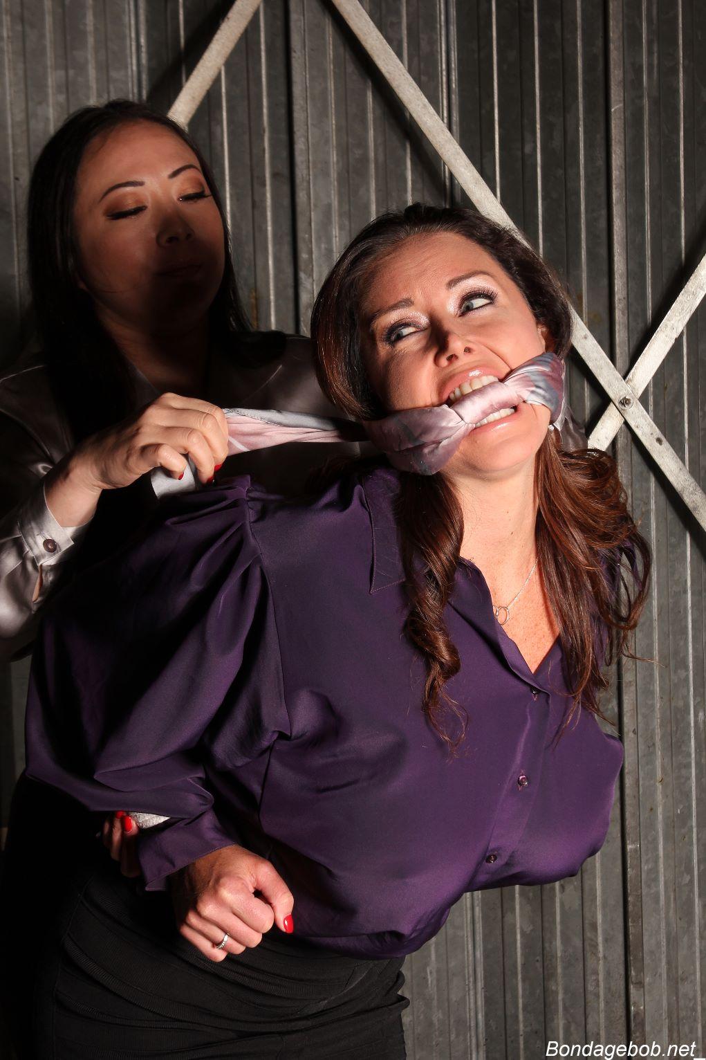 Nyssa Nevers Christina Carter in bondage.