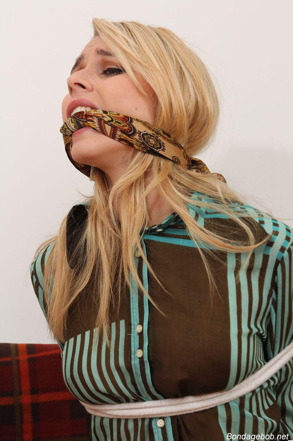 Chloe Toy in bondage.