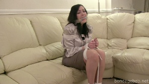 Jessica in bondage.