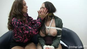 Christina Carter & Nyssa Nevers in bondage.
