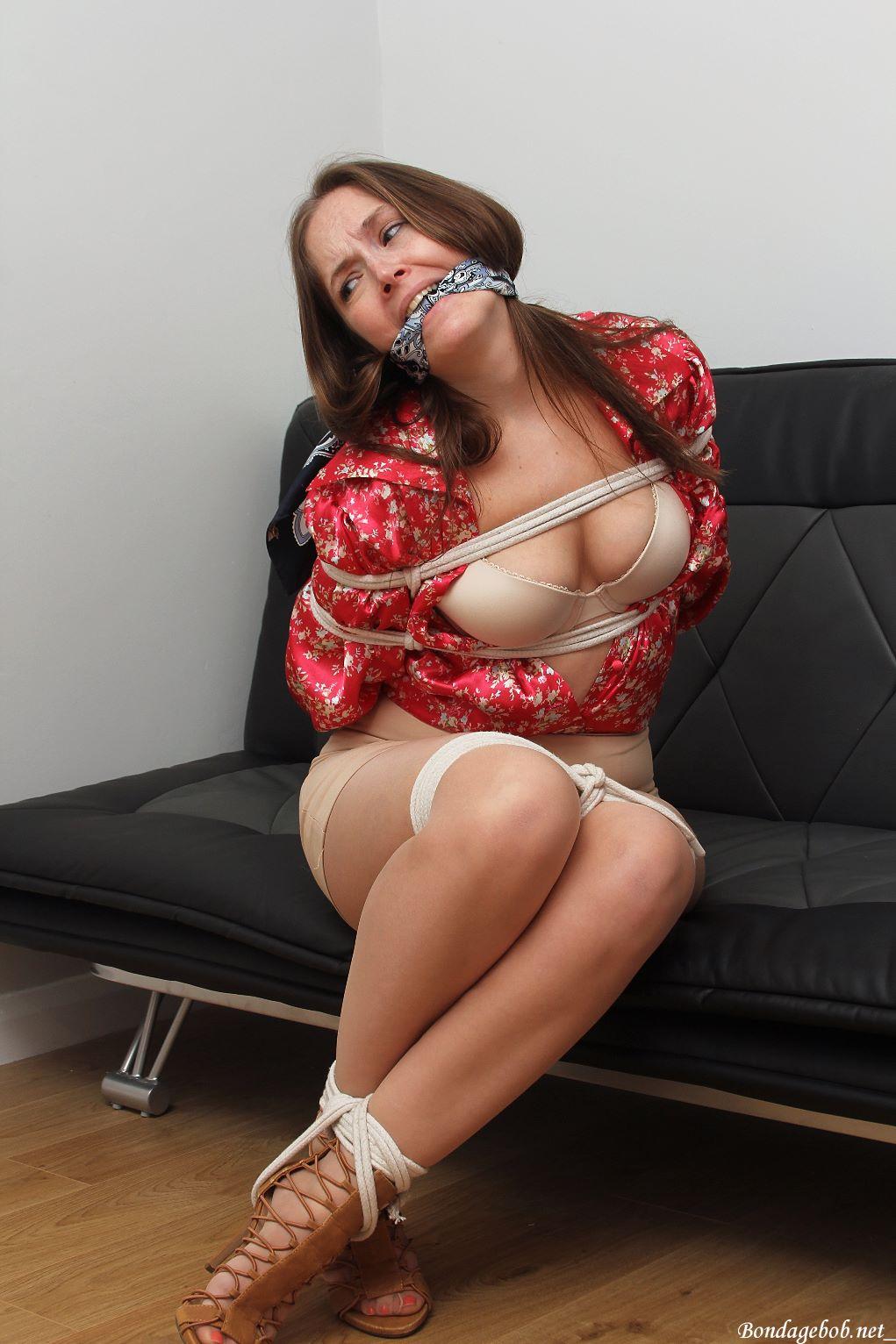 Rachel Adams in bondage.