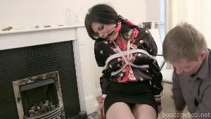 Monica Harris in bondage.