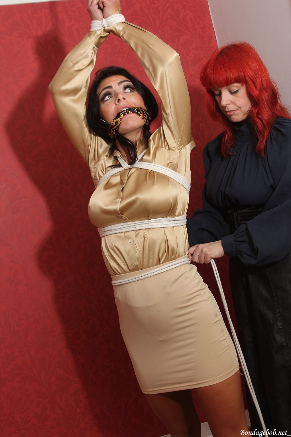 Bianca J & Temptress Kate in bondage.