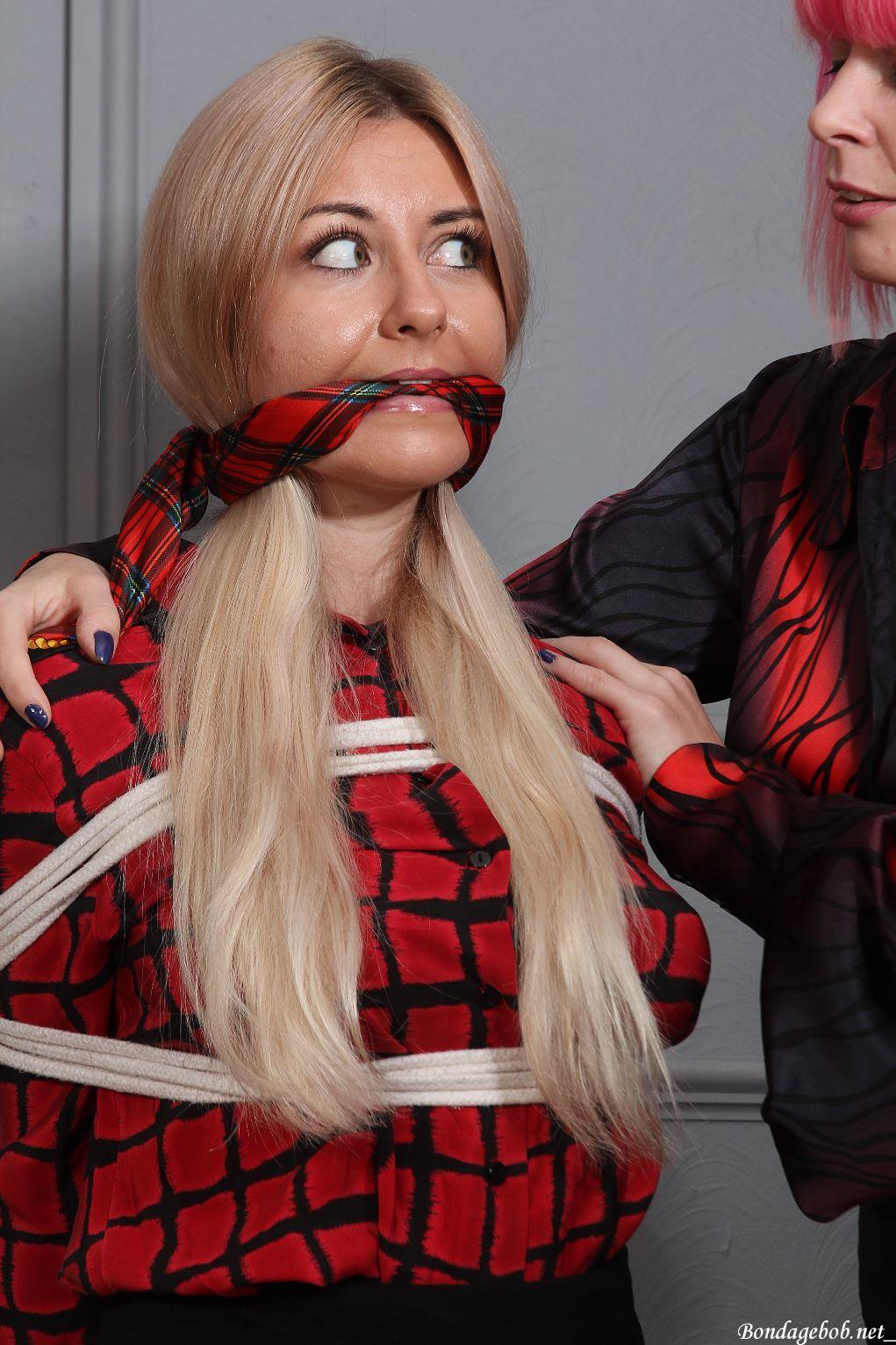Elle Hunter & Temptress Kate in bondage.