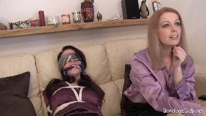 Caroline Peirce & Temptress Kate in bondage.