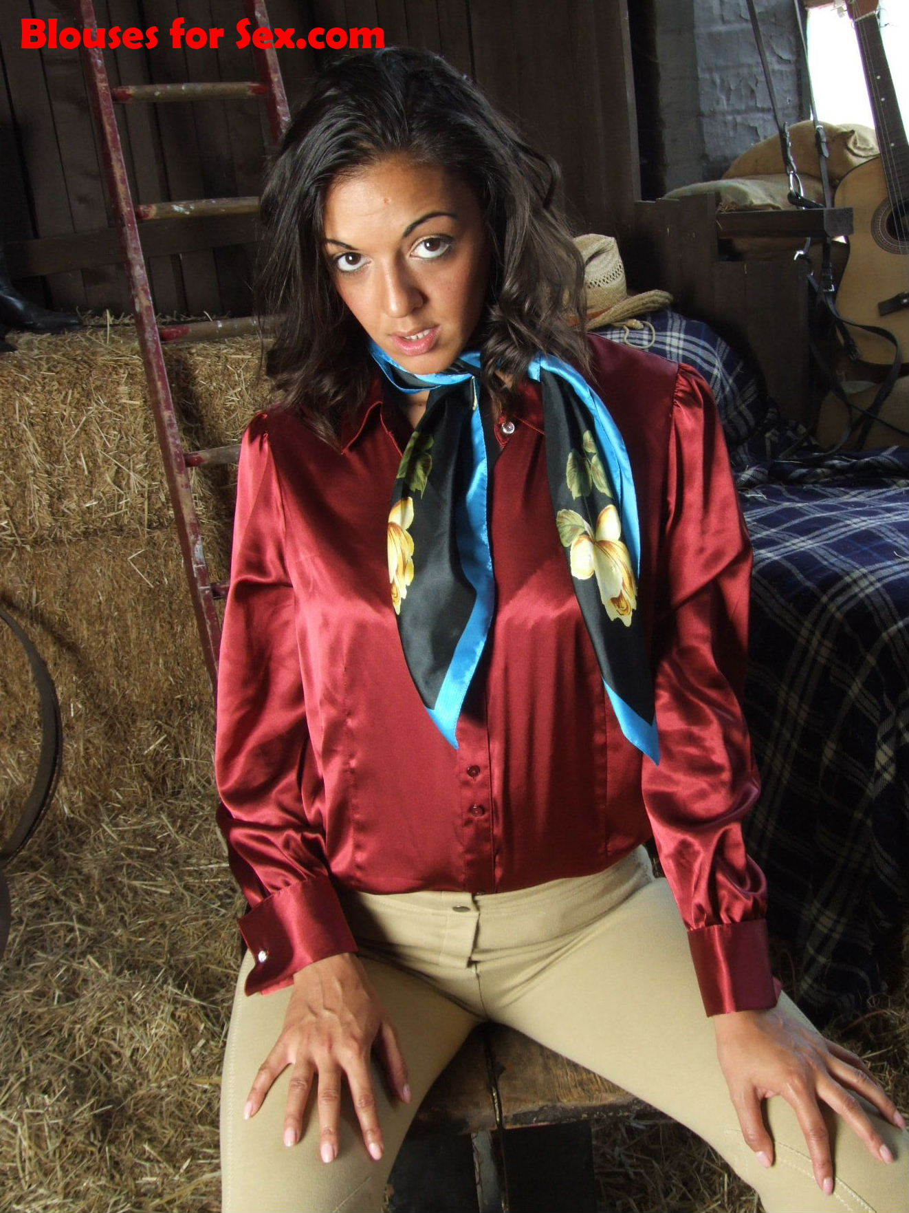 Satin and Scarf Stable Girl