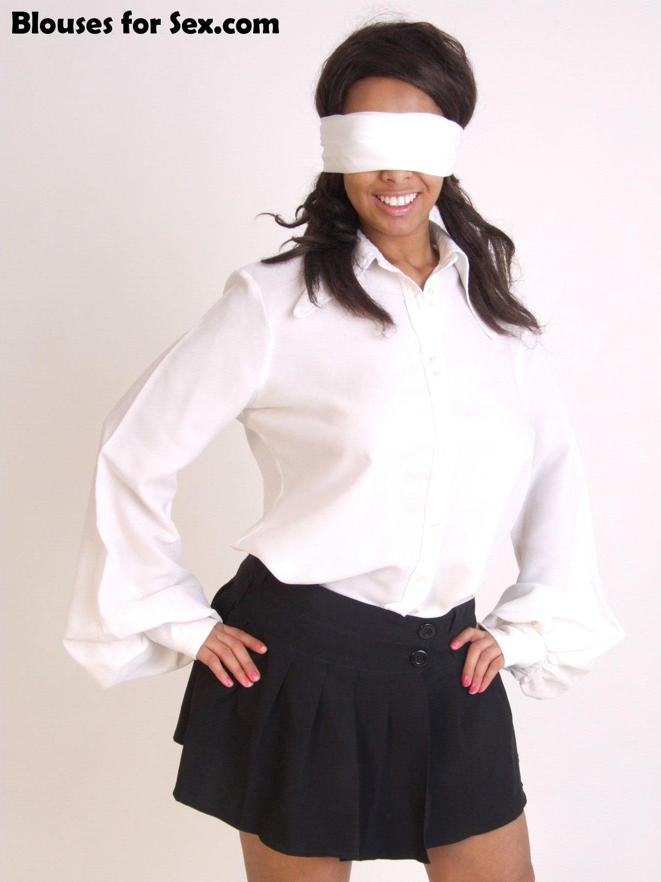 White Blouse, White Blindfold