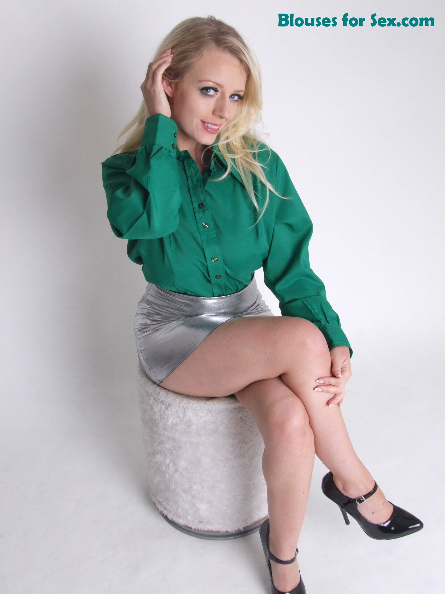 Green Silk and Silver Leather