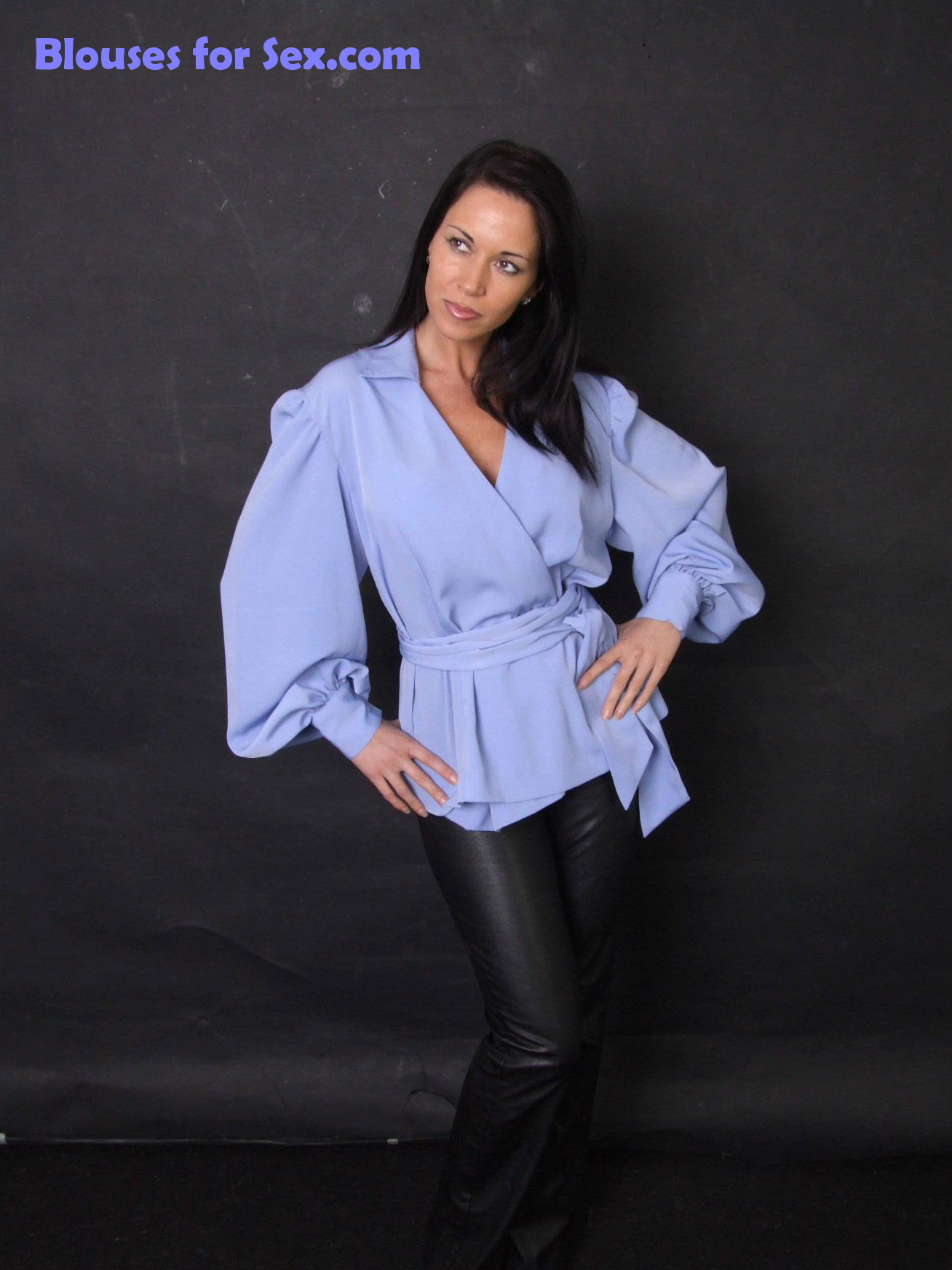 Stylish in Her Tunic Blouse