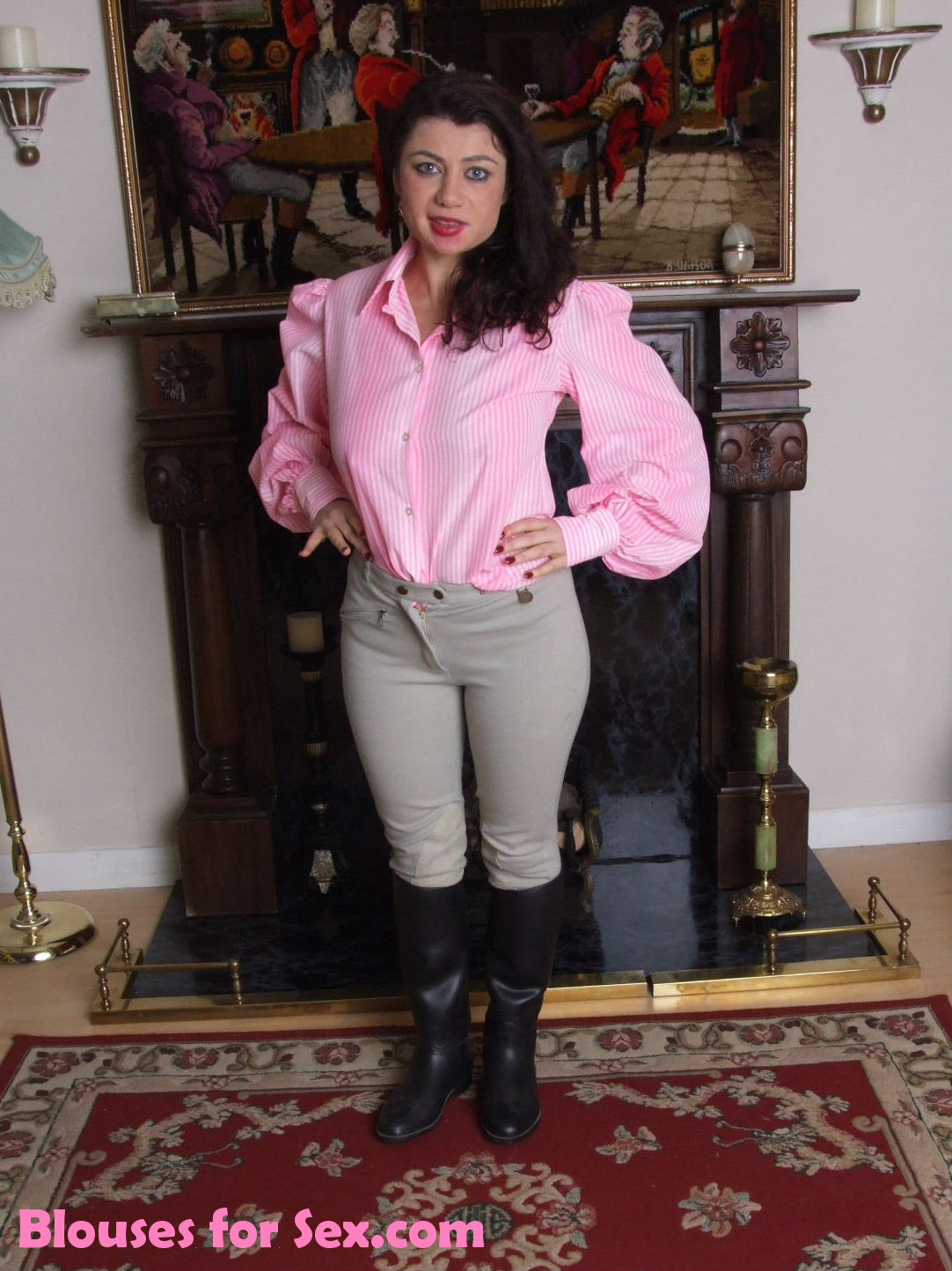 Pink Blouse Pony Girl