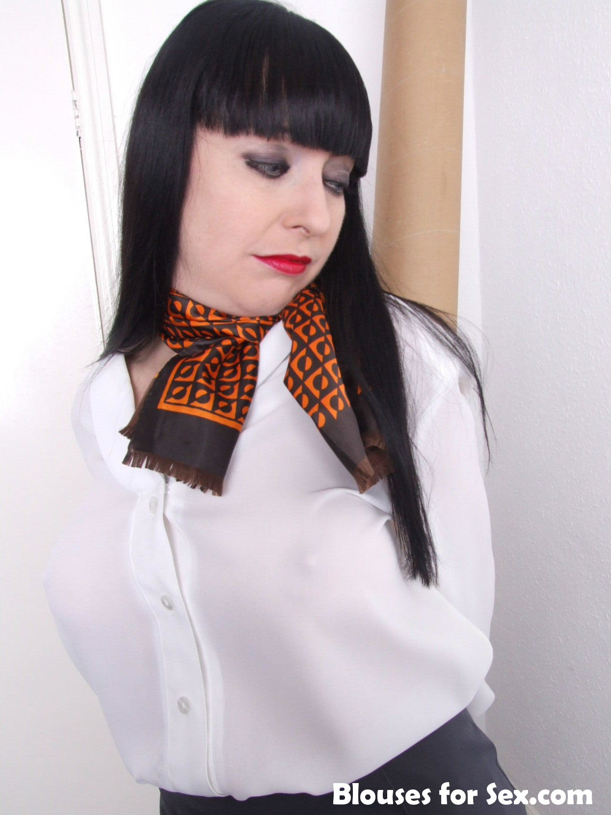Shoulder Pads and Scarf
