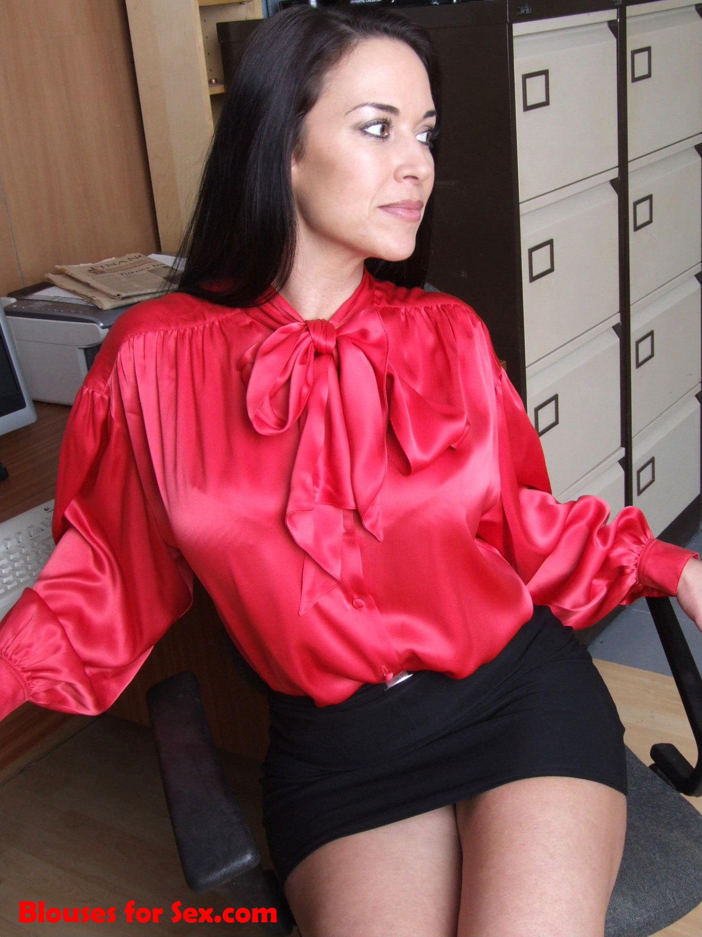 Red Satin Secretary