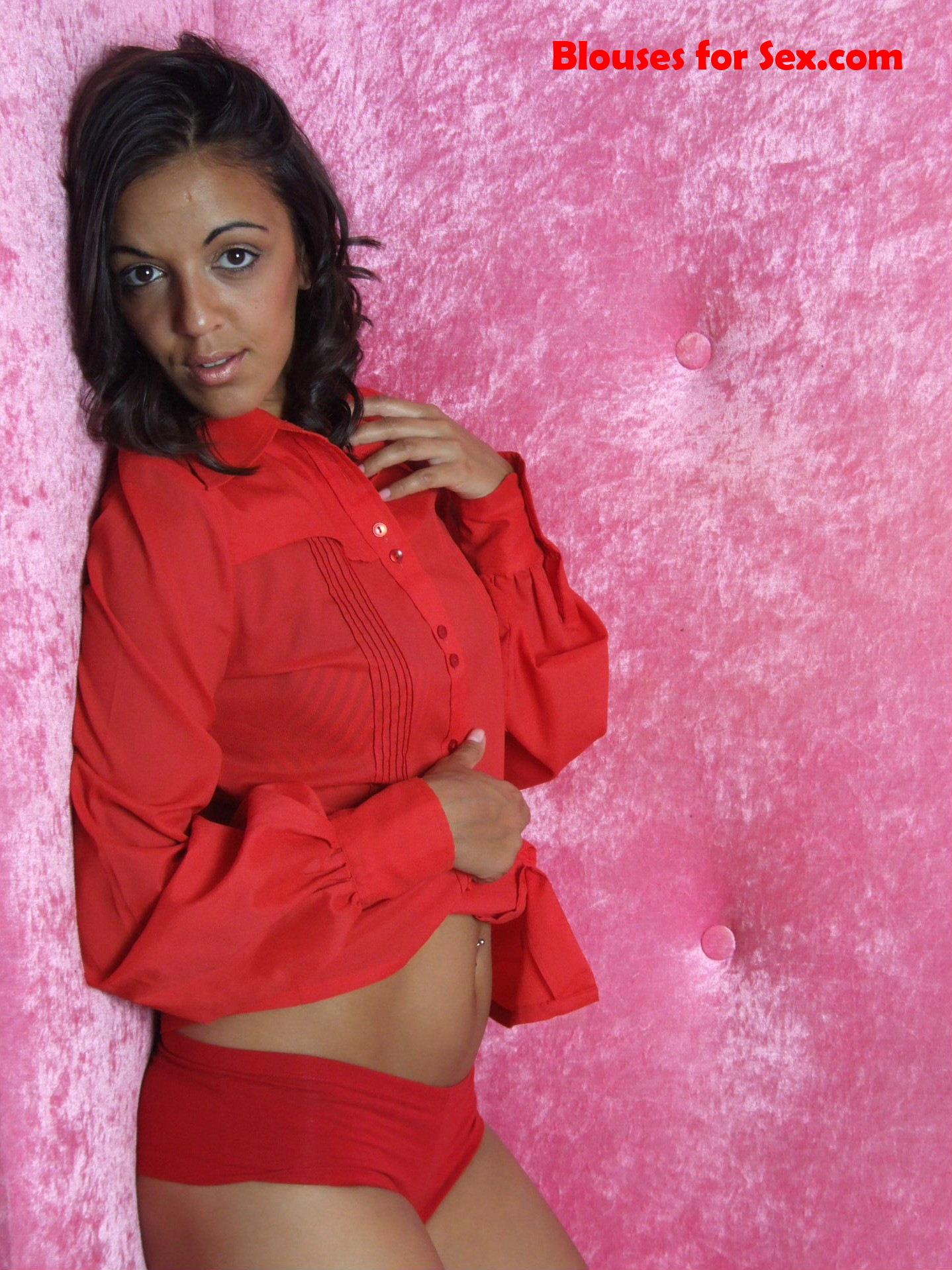 Red Blouse, Red Panties