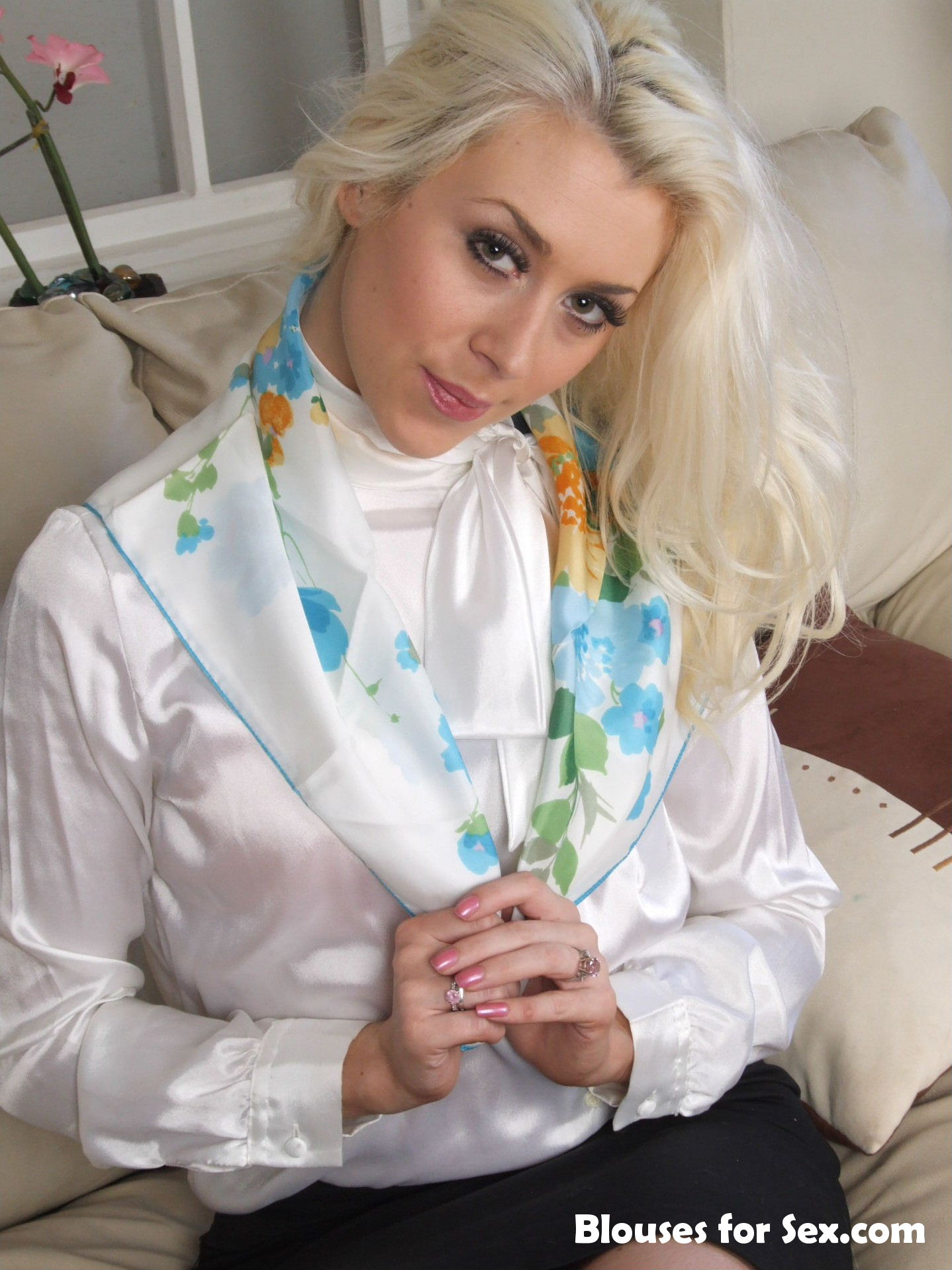 White Satin and Scarf
